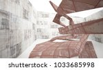 empty smooth abstract room... | Shutterstock . vector #1033685998