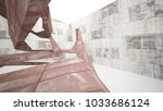 empty smooth abstract room...   Shutterstock . vector #1033686124