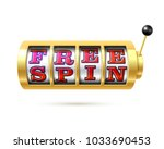 slot machine with text free... | Shutterstock .eps vector #1033690453