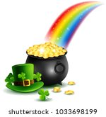 beautyful st.patrick's day... | Shutterstock . vector #1033698199