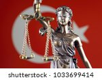 symbol of law and justice with... | Shutterstock . vector #1033699414