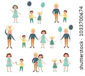 mom and dad are happy with... | Shutterstock .eps vector #1033700674