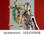 symbol of law and justice with... | Shutterstock . vector #1033703908