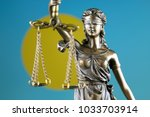 symbol of law and justice with... | Shutterstock . vector #1033703914