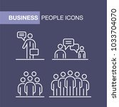 business people icons set... | Shutterstock .eps vector #1033704070