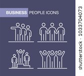 business people icons set... | Shutterstock .eps vector #1033704073