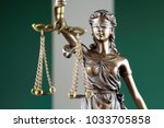 symbol of law and justice with... | Shutterstock . vector #1033705858