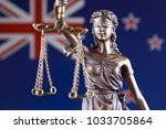 symbol of law and justice with... | Shutterstock . vector #1033705864