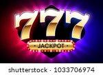 777  lucky sevens jackpot  big... | Shutterstock .eps vector #1033706974