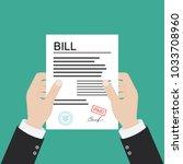 bill. paying bill. flat icon   Shutterstock .eps vector #1033708960