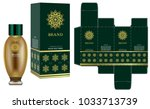 packaging design  label on... | Shutterstock .eps vector #1033713739