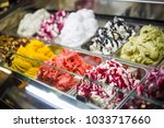delicious cakes of different... | Shutterstock . vector #1033717660