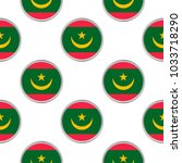 seamless pattern from the... | Shutterstock .eps vector #1033718290