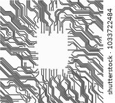 circuit board background ... | Shutterstock .eps vector #1033722484