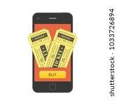 concept of online buy cinema... | Shutterstock .eps vector #1033726894