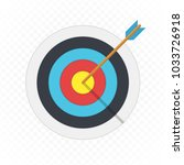 target arrow flat icon. arrow... | Shutterstock .eps vector #1033726918
