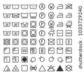laundry and washing icon set.  | Shutterstock . vector #1033729240