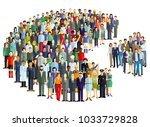 groups of people statistics ... | Shutterstock . vector #1033729828