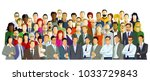 group picture with diverse... | Shutterstock . vector #1033729843