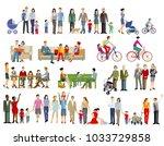 family life generation ... | Shutterstock . vector #1033729858