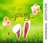 easter hunt sale promotion  ... | Shutterstock .eps vector #1033731358