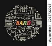 band colorful gradient with... | Shutterstock .eps vector #1033732018
