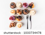 flat lay with arranged various... | Shutterstock . vector #1033734478