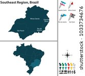 vector set of southeast region... | Shutterstock .eps vector #1033734676