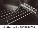 guitar and vinyl record  | Shutterstock . vector #1033734784