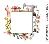 Geometric Square Frame With...