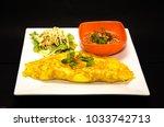 egg wrap thai food omelette... | Shutterstock . vector #1033742713