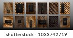 vector set of abstract... | Shutterstock .eps vector #1033742719