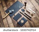 black vintage corporate...   Shutterstock . vector #1033742914