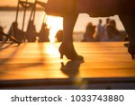 dancers' feet in shoes while...   Shutterstock . vector #1033743880