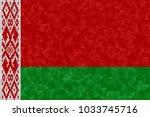 belarus flag polygonal design... | Shutterstock . vector #1033745716