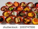 luxury japanese food assorted | Shutterstock . vector #1033747000