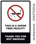 a4 vapor free facility   no...   Shutterstock .eps vector #1033752016