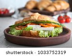 Plate With Tasty Croissant...
