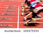 sprint start in track and field ... | Shutterstock . vector #103375553