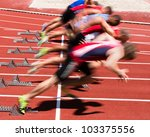 sprint start in track and field ... | Shutterstock . vector #103375556