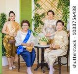 editorial use only  senior thai ... | Shutterstock . vector #1033756438