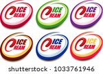 ice cream label with tongue... | Shutterstock .eps vector #1033761946