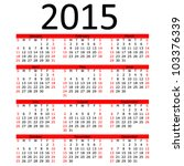 simple 2015 calendar red bar eps stock vector 103376339 shutterstock