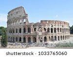 the flavian amphitheater in... | Shutterstock . vector #1033765060