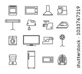 set of different elements of... | Shutterstock .eps vector #1033767319