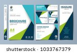 blue corporate identity set...   Shutterstock .eps vector #1033767379