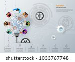 idea concept for business... | Shutterstock .eps vector #1033767748