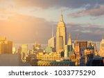 new york city midtown skyline... | Shutterstock . vector #1033775290