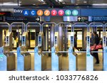 subway station entrance in... | Shutterstock . vector #1033776826