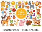 Set With Farm Animals. Vector...